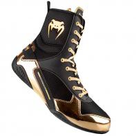 Botas de Boxeo Venum Elite Negro/Oro