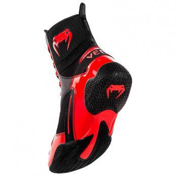 Botas de Boxeo Venum Elite Negro/Rojo