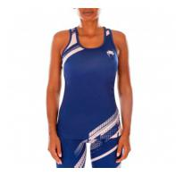 Camiseta Mujer Fitness Venum Rapid Azul Marino/Coral