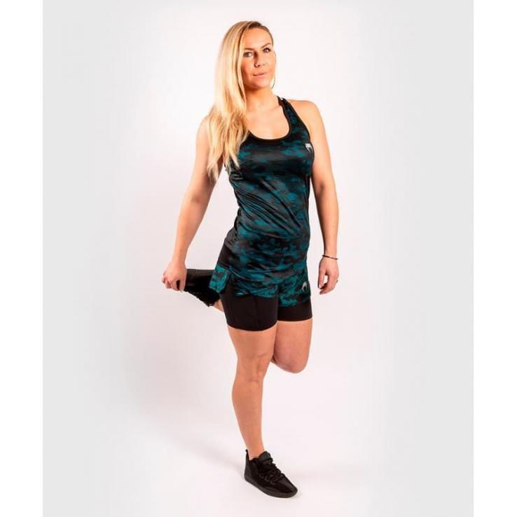 Camiseta Mujer Venum Defender negro / verde