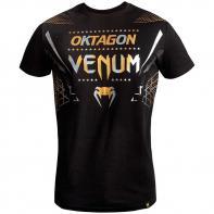 Camiseta Venum Oktagon negro/oro-plata