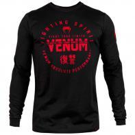 Camiseta Venum Signature Negro/Rojo Manga Larga