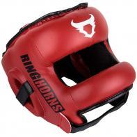 Casco de boxeo con barra Ringhorns Nitro rojo by Venum