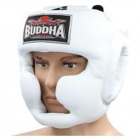 Casco de boxeo Buddha entrenamiento Thailand blanco