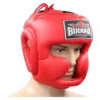Casco de boxeo Buddha entrenamiento Thailand rojo