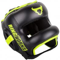 Casco de boxeo con barra Ringhorns Nitro negro neo yellow by Venum