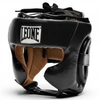 Casco de boxeo Leone Training negro