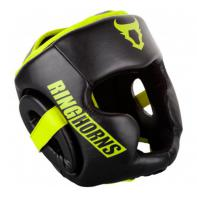 Casco de boxeo Ringhorns Charger negro / neo yellow by Venum