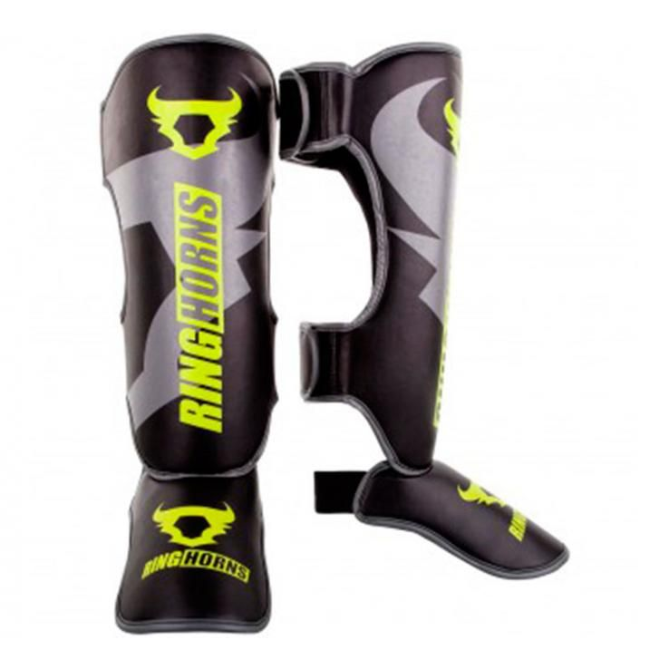 Espinilleras Ringhorns Charger Black Neo Yellow By Venum