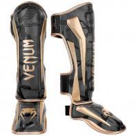 Espinilleras Venum Elite Dark Camo / Gold