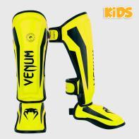 Espinilleras Venum Niños Elite neo yellow