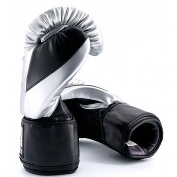 Guantes de boxeo Buddha Metallic Plata/Negro