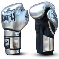 Guantes de boxeo Buddha Pro Gel plata