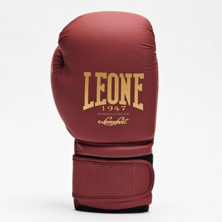 Guantes de boxeo Leone GN059 Burdeos