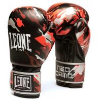 Guantes de boxeo Leone Neo Camo rojo