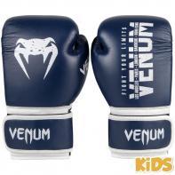 Guantes de boxeo Niños Venum Signature azul navy