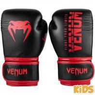 Guantes de boxeo Niños Venum Signature rojo