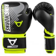Guantes de boxeo Ringhorns Charger MX Negro Neo Yellow By Venum