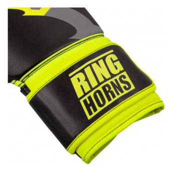 Guantes de boxeo Ringhorns Charger Negro Neo Yellow By Venum