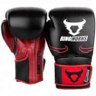 Guantes de boxeo Ringhorns Destroyer negro/rojo
