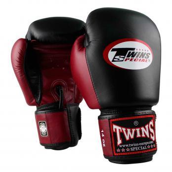 Guantes de boxeo Twins BGVL 3  Black / Wine Red