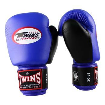 Guantes de boxeo Twins BGVL 3 Retro Azul/Negro