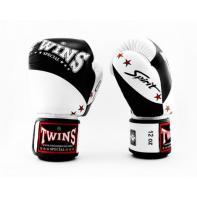 Guantes de boxeo Twins BGVL10 negro/blanco