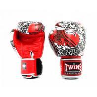 Guantes de boxeo Twins Special Fantasy 5 Nagas rojo