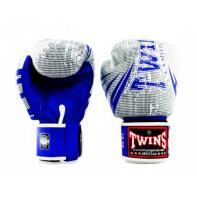 Guantes de boxeo Twins Special Fantasy 7 blanco / azul