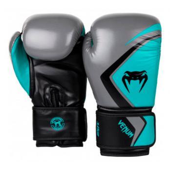 Guantes de boxeo Venum Contender 2.0 Gris/Turquesa-Negro