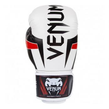 Guantes de boxeo Venum Elite Blanco/Negro/Rojo