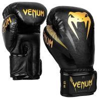 Guantes de boxeo Venum Impact negro/dorado