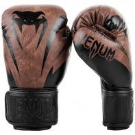 Guantes de boxeo Venum Impact negro/marrón