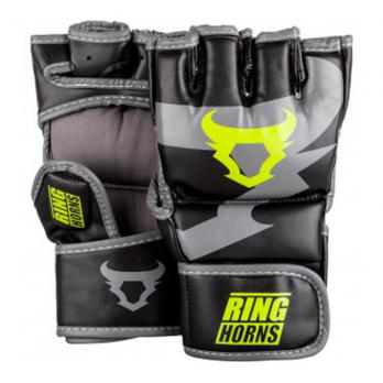 Guantillas de MMA Ringhorns Charger Black Neo Yellow By Venum