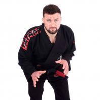 Kimono BJJ Tatami Red Bar negro