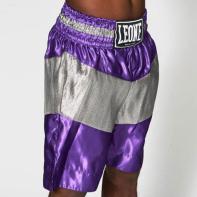 Pantalones de boxeo Leone Legend morado / plateado