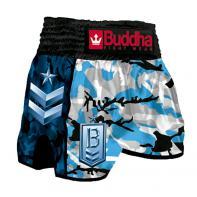 Pantalones Muay Thai Buddha Retro Army Navy Niños