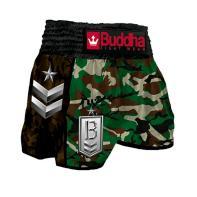 Pantalones Muay Thai Buddha Retro Green Classic niños