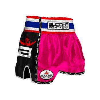 Pantalones Muay Thai Buddha Retro Rosa Niños