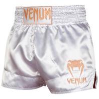 Pantalones Muay Thai Venum Classic blanco / oro