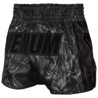 Pantalones Muay Thai Venum Devil negro mate