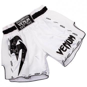 Pantalones Muay Thai Venum Giant  Blanco/Negro