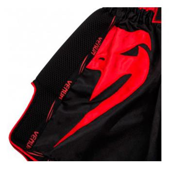 Pantalones Muay Thai Venum Giant  Negro / Rojo