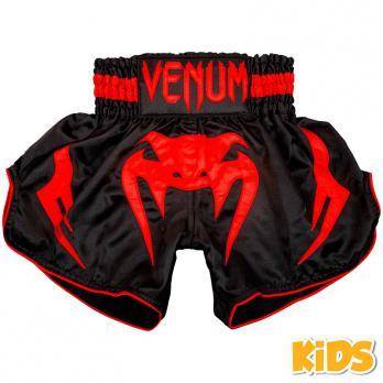 Pantalones Muay Thai Venum Inferno Red Devil Niños