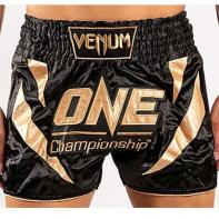 Pantalones Muay Thai Venum X One FC negro / oro
