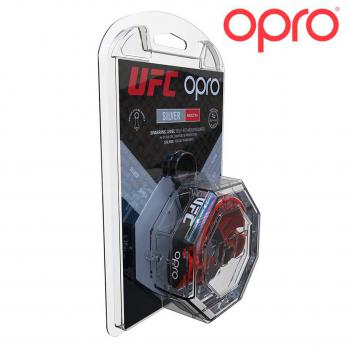Protector Bucal Opro Silver Red/Black  UFC