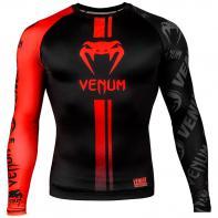 Rashguard  Venum Logos manga larga negro/rojo