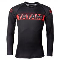 Rashguard Tatami Red Bar manga larga