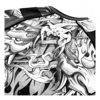 Rashguard Venum Devil Blanco/Negro Manga Larga