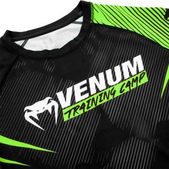 Rashguard Venum Training Camp 2.0 Negro/Neo Yellow